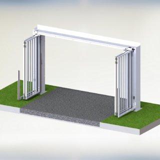 Speedgate Bovengeleiding 3D binnenaanzicht open
